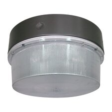 150W MH Round Luminaire Flush Mount in Bronze