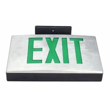 Cast Aluminum Double White Face LED Exit Sign