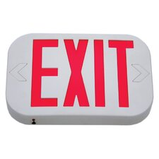 Low Profile Single Face Exit Sign with White Housing