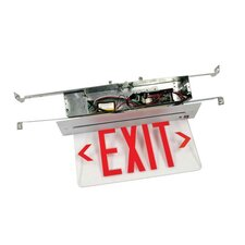 Recessed Edge Lit Single Face LED Exit Sign for Hard Lid Ceilings