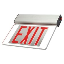 Single Face Surface Edge Lit LED Exit Sign Light