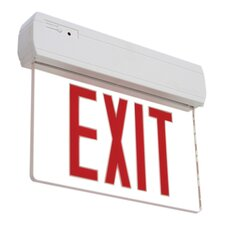 Recessed Or Surface Edge Lit LED Exit Sign