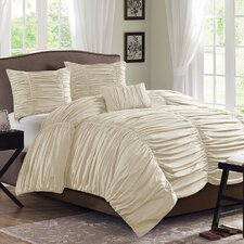 Delia 4 Piece Duvet Cover Set