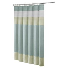 <strong>Madison Park</strong> Carter Polyester Faux Silk Shower Curtain