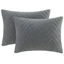 Cotton Velvet Oblong Pillow (Set of 2)