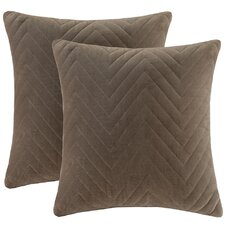 Cotton Velvet Square Pillow (Set of 2)