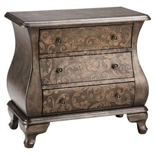 Scroll 3 Drawer Chest