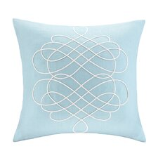 Linen Embroidered Square Pillow