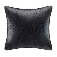 Ostrich Faux Leather Square Pillow