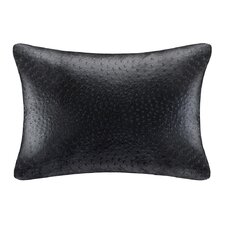 Ostrich Faux Leather Oblong Pillow