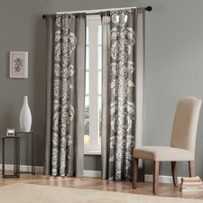<strong>Madison Park</strong> Lucia Cotton Rod Pocket Curtain Single Panel