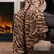 <strong>Madison Park</strong> Chapman Long Fur Polyester Throw