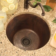 "17.75"" x 17.75"" Redondo Grande Hand Hammered Bar Sink"