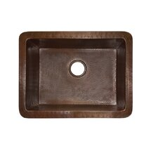 "24"" x 18"" Bistro Hand Hammered Kitchen Sink"