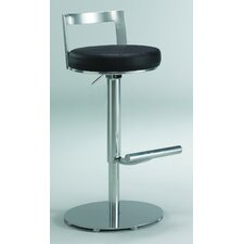 "Cosmo 26"" Adjustable Swivel Bar Stool with Cushion"