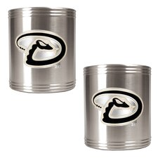 MLB 2 Piece Stainless Steel Can Holder Set