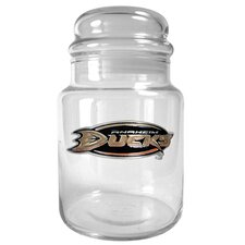 NHL 31 oz. Glass Candy Jar