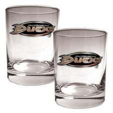 NHL 2 Pieces Rocks Glass Set - Primary Logo