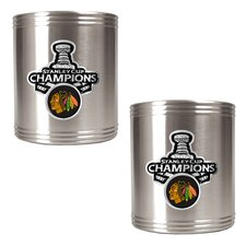 Blackhawks 2013 NHL Stanley Cup Can Holder (Set of 2)