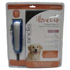 <strong>Andis Company</strong> 15 Piece Ultra Clip Clipper Kit in Blue