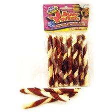 Wrapped Rawhide Twist Dog Treat