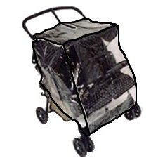 Twin Side-by-Side Stroller Rain and Wind Cover