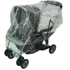 MiaModa Facile Twin Side by Side Stroller Rain and Wind Cover