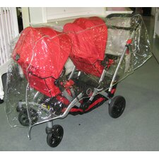 <strong>Sasha's Kiddie Products</strong> Kolcraft Contours Options/Optima Tandem Stroller Rain and Wind Cover