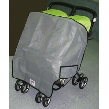 Peg Perego Aria Twin, and Aria Twin 60/40 Twin Side by Side Stroller Sun, Wind and Insect Cover