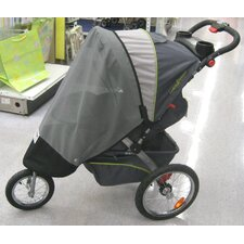 Baby Trend Single Front Swivel Wheel Expeditions, & Ride Jogger Sun, Wind and Insect