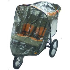 Baby Trend Front Swivel Wheel Double Expeditions Stroller Rain and Wind Cover