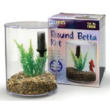 <strong>Lees Aquarium & Pet</strong> Mini Round Aquarium Betta Kit