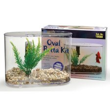 Mini Oval 0.75 Gallon Aquarium Betta Kit
