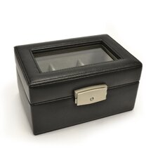 Luxury 3 Slot Watch Jewelry Box in Genuine Leather
