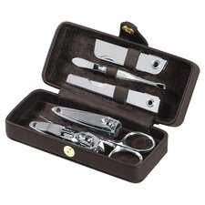 Royce Leather Framed Travel Manicure Grooming Kit
