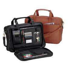 Royce Leather Expandable Laptop Briefcase Organizer Bag