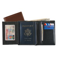 European Passport Leather Wallet