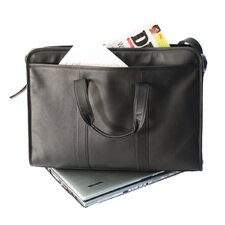 Soft-Sided Laptop Leather Briefcase