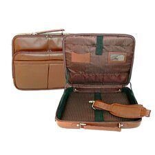 "Genuine Leather 17"" Laptop Briefcase"
