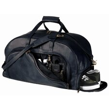 "22.25"" Top Grain Leather Organizer Travel Duffel with Shoe Compartment"