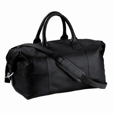 "<strong>Royce Leather</strong> 14"" Petite Leather Euro Travel Duffel"