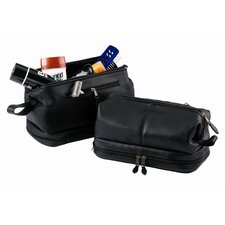 Toiletry Bag with Zippered Bottom Compartment