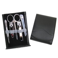 Genuine Leather Stainless Steel Travel Manicure Set