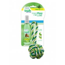 Fresh Breath Liquidfloss and Triflossball