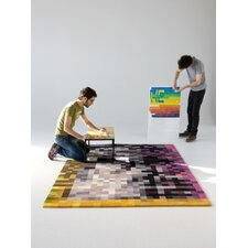 Digit Black Area Rug