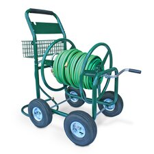 <strong>Liberty Garden</strong> Residential and Industrial 4 Wheel Hose Reel Cart