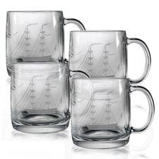 Clipper Ship 12 oz. Coffee Mug (Set of 4)