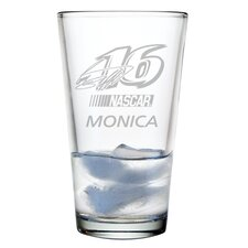 Nascar Individual 16 oz. Mixing Glass, Greg Biffle with personalization
