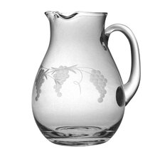 Classic Round Pitcher 64 oz. Hand Cut Sonoma Pattern