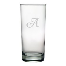 Script Monogrammed Hiball Glass (Set of 4)